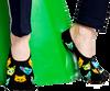 Schwarze HAPPY SOCKS Socken LINER  - small
